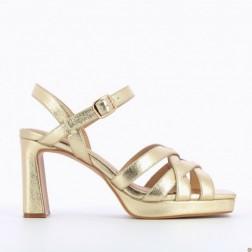 Sandales or à plateforme -...