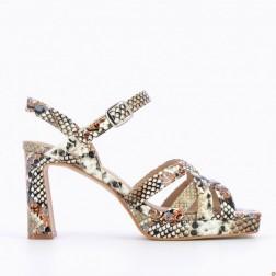 Sandales beiges effet...